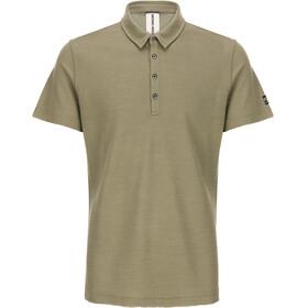 super.natural Piquet t-shirt Heren olijf
